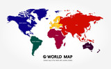 Grand world map graphic element vector illustration. - 247281243