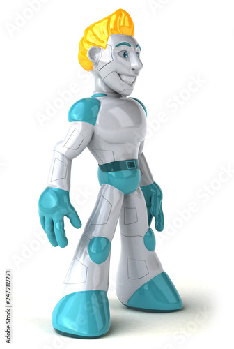 Leinwandbild Motiv Robot - 3D Illustration