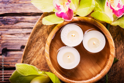 orchid and candles - 247292200