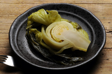 Pickled mustard Feuilles de moutarde au vinagre