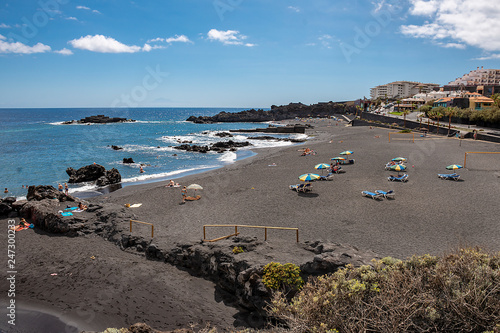Los Cancajos beach on La Palma island Canary Islands