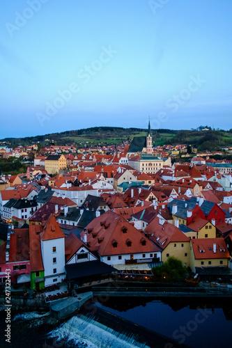Panorama of Český Krumlov, Czech Republic - 247322443