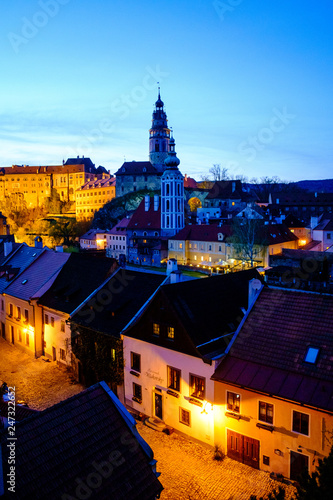 Panorama of Český Krumlov, Czech Republic