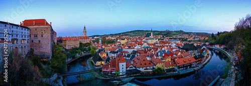 Panorama of Český Krumlov, Czech Republic - 247325204