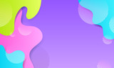 Vector blobs abstract background. Colorful liquid shapes. - 247327876