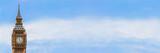 Fototapeta Big Ben - Big Ben, London, England Panorama Web Banner © Darren Baker