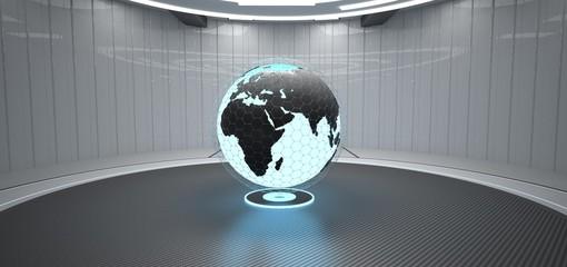 Globe Futuristic Room