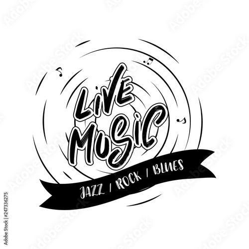 Jazz music festival poster with lettering