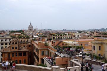 Vue sur Rome depuis l'église de la trinité des monts
