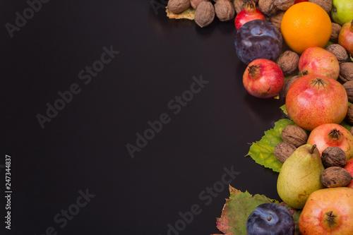 autumn fruits - 247344837