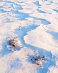 Surface of snow in winter © Ewald Fröch