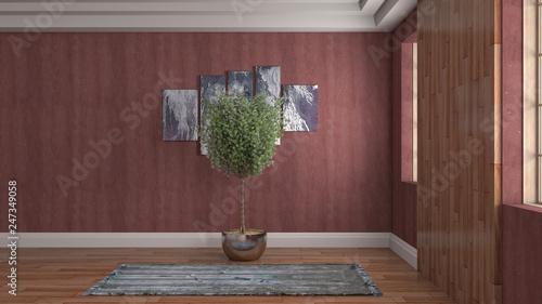 Leinwandbild Motiv Empty interior. 3d illustration