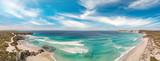 Aerial view of beautiful Pennington Bay in Kangaroo Island, South Australia.