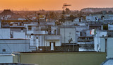 Skyline of Southern Italy Town at summer sunset - 247373891