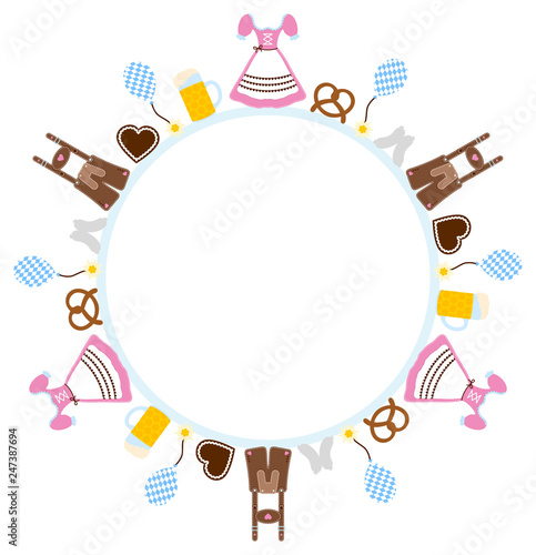 Round Frame Octoberfest Symbols