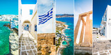 Collage of sights and scenes of Greece
