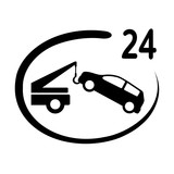 samochód auto pomoc całodobowa ikona