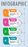 Thin line minimal Infographic design template with icons and 4 options or steps.It can be used for process diagram, presentations, workflow layout, banner, flow chart, info graph. - 247407880