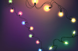 Glowing lights vector clipart - 247414482