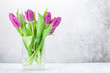 Colorful tulips flower bouquet - 247420860