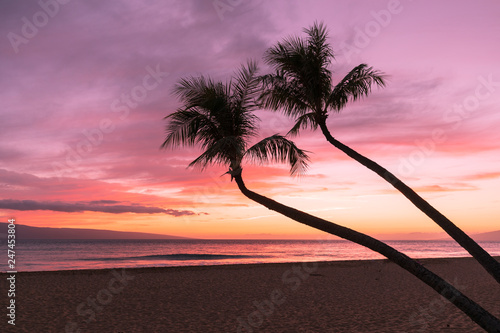 Beautiful Tropical Sunset on Maui