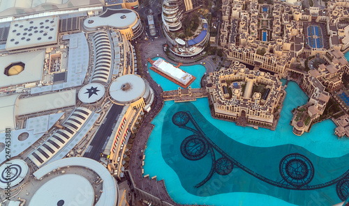 Leinwandbild Motiv Aerial view The Dubai Malli city United Arab Emirates