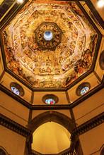 """Постер, картина, фотообои """"Vasari Fresco Jesus Last Judgment Dome Duomo Cathedral Florence"""""""