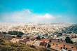 San Francisco skyline view from the twin peaks in California. Beautiful city view from the top. - 247473832