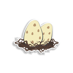 dinosaur eggs cartoon sticker icon. Elements of Prehistoric in color icons. Simple icon for websites, web design, mobile app, info graphics