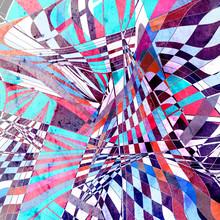 "Постер, картина, фотообои ""Abstract bright unusual pattern with wavy elements"""