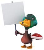 Fun duck - 3D Illustration - 247509649