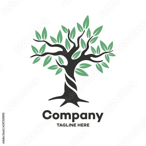 Modern deciduous tree logo © val1982
