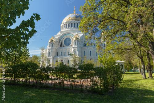 St. Nicholas naval Orthodox Cathedral in Kronstadt, St. Petersburg, Russia. © Dmitrii