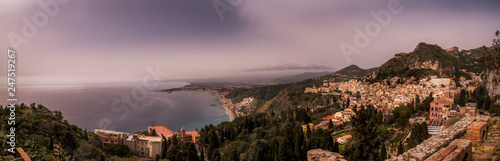 panoramic view, sicily  - 247519267