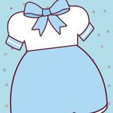 cute girl dress icon