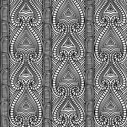4fdc5b1195b55 Maori tribal pattern vector seamless. African fabric print. Ethnic  polynesian aboriginal art. Aztec