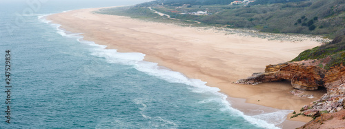Sandy ocean beach (Portugal). - 247529834