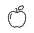 Apple line icon. - 247573232