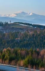 Early morning spring Carpathian mountains © wildman