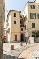 Italia Liguria Ventimiglia vicoli e piazzette del borgo vecchio
