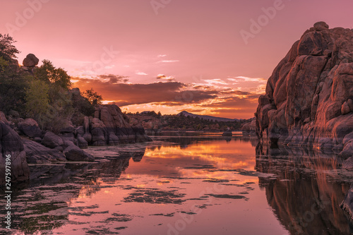 Scenic Sunset at Watson Lake Prescott Arizona