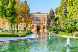 Amazing view of the Golestan Palace and fountains, Tehran, Iran - 247598441