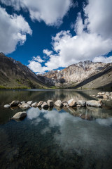 Convict Lake in the springtime, located off of US-395, near Mammoth Lakes California in the eastern Sierra Nevada mountains, Inyo National Forest. © Melissa