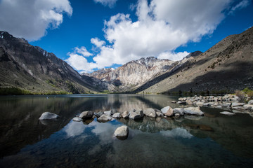 Convict Lake in the springtime, located off of US-395, near Mammoth Lakes California in the eastern Sierra Nevada mountains, Inyo National Forest. © Melissa Kopka