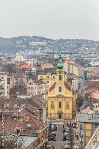 cityscape of eastern europe - 247605657