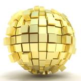 Golden cubic sphere