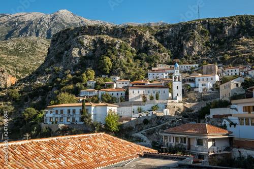 Dhermi town Albania coastline, Albanian Riviera - 247608694