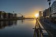 Stunning morning light over Dublin on a windless day  - 247618857