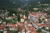 Samobor - city in Croatia, aerial view.
