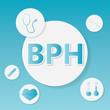 BPH (Benign Prostatic Hyperplasia) medical concept- vector illustration
